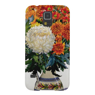 Chrysanthemums in a patterned jug 2005 galaxy s5 covers