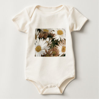 Chrysanthemums in Bloom. Emulsion Transfer Baby Bodysuit