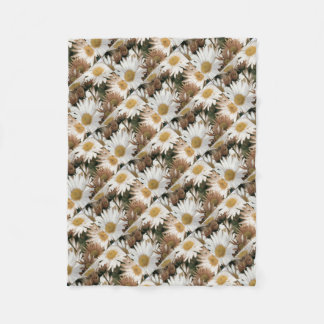 Chrysanthemums in Bloom. Emulsion Transfer Fleece Blanket