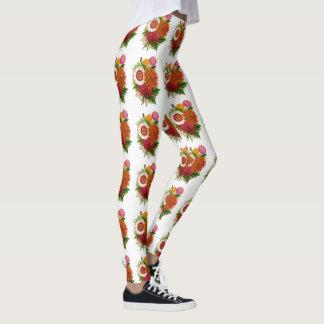 Chrysanthemums Leggings