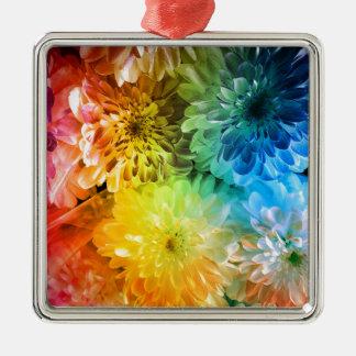 chrysanthemums metal ornament
