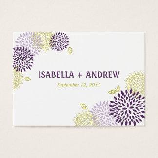 Chrysanthemums Wedding Directions Chubby Business Card