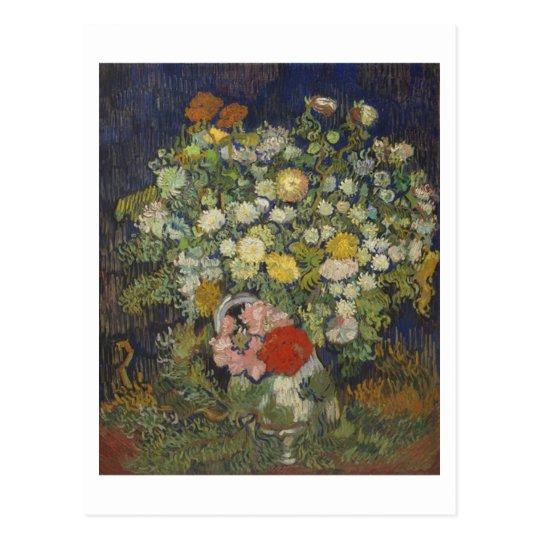 Chrysanthemums & Wild Flowers Van Gogh Fine Art Postcard