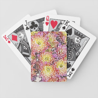 Chrysanthemums Within the Lines Playing Cards