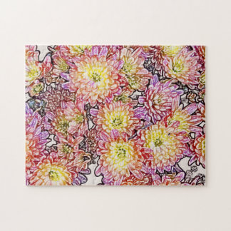 Chrysanthemums Within the Lines Puzzle