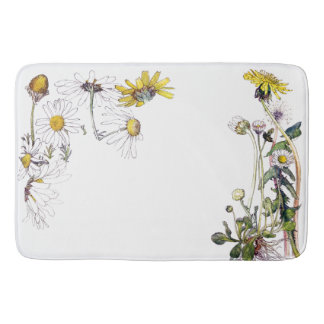 Chrysanthymum Daisy Flowers Floral Bath Mat