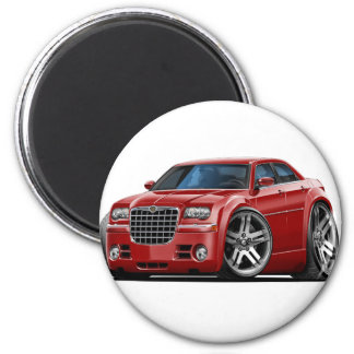 Chrysler 300 Maroon Car 2 Inch Round Magnet