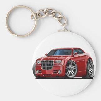 Chrysler 300 Maroon Car Basic Round Button Keychain
