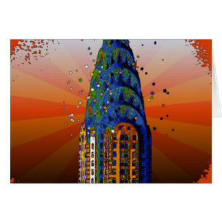 Chrysler Building #5 - Psychedelic Style Card