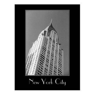 Chrysler Building B&W Postcard