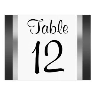 Chrysler Building  Black Silver Table Number Postcard