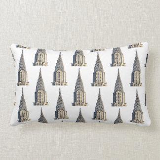 Chrysler Building Dome Pattern Black on White Lumbar Pillow