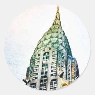 Chrysler Building - Frozen - New York City Round Sticker