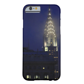 Chrysler Building Lit up at Dusk in the Mist Barely There iPhone 6 Case