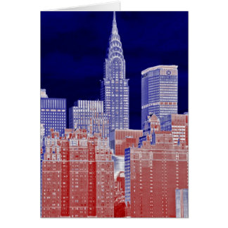 Chrysler Building, Met Life Viewed From East River Card