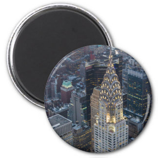 Chrysler Building New York City Aerial Skyline NYC 2 Inch Round Magnet