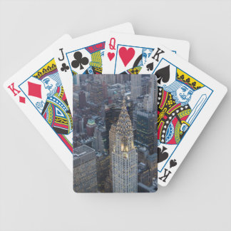 Chrysler Building New York City Aerial Skyline NYC Bicycle Playing Cards
