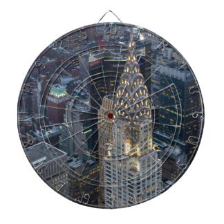 Chrysler Building New York City Aerial Skyline NYC Dartboard