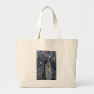 Chrysler Building New York City Aerial Skyline NYC Large Tote Bag