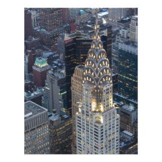Chrysler Building New York City Aerial Skyline NYC Letterhead
