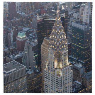 Chrysler Building New York City Aerial Skyline NYC Napkin