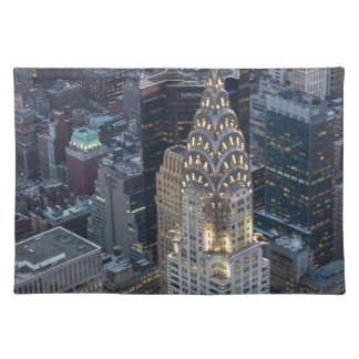 Chrysler Building New York City Aerial Skyline NYC Place Mat