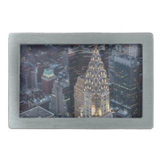 Chrysler Building New York City Aerial Skyline NYC Rectangular Belt Buckles