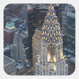 Chrysler Building New York City Aerial Skyline NYC Square Sticker