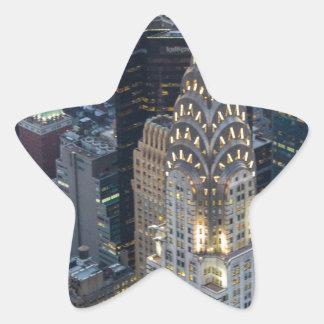Chrysler Building New York City Aerial Skyline NYC Star Sticker
