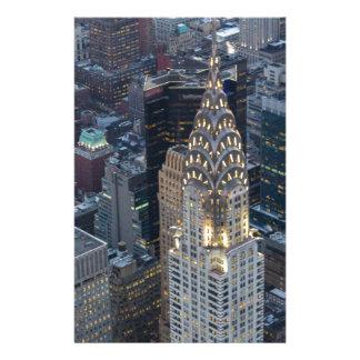 Chrysler Building New York City Aerial Skyline NYC Stationery