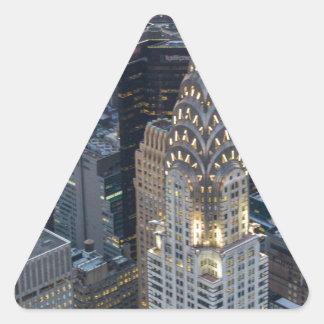 Chrysler Building New York City Aerial Skyline NYC Triangle Sticker