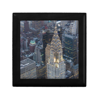 Chrysler Building New York City Aerial Skyline NYC Trinket Boxes