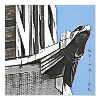 "Chrysler Building, NYC 5.25"" Square Invitation Card"