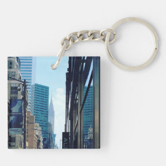 Chrysler Building, NYC Double-Sided Square Acrylic Keychain
