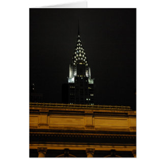Chrysler Building Over Grand Central Card