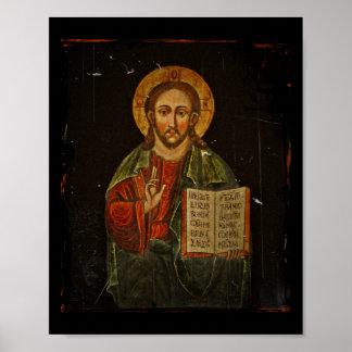 Chrystus Pantokrator Icon (Jesus) Poster