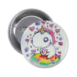 Chubbles the Unicorn 2 Inch Round Button