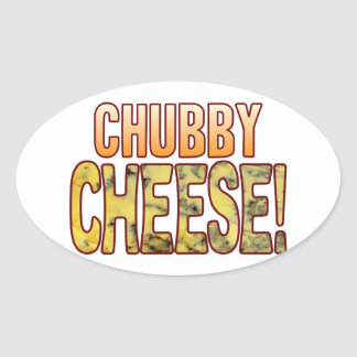 Chubby Blue Cheese Oval Sticker
