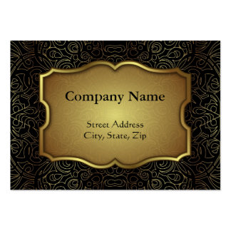 Chubby Business Card Floral Abstract Damasks