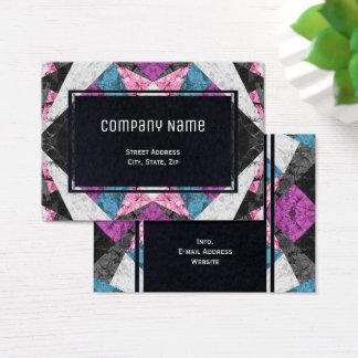 Chubby Business Card Marble Geometric G438