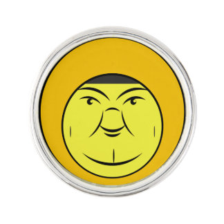 Chubby Face Lapel Pin