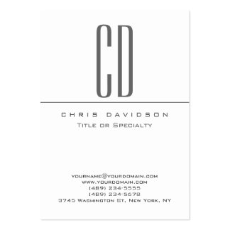Chubby Gray Black White Contemporary Business Card