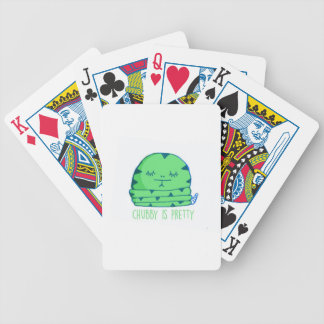 Chubby is pretty bicycle playing cards