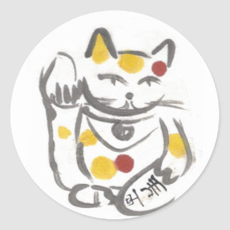 Chubby Lucky Cat Stickers