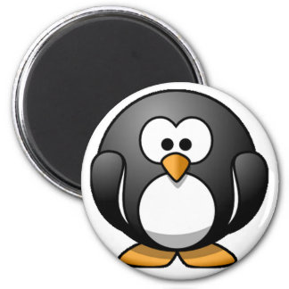 Chubby Penguin 2 Inch Round Magnet