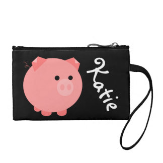 Chubby Pig Zippered Clutch