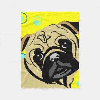 Chubby Pug Face Blankets