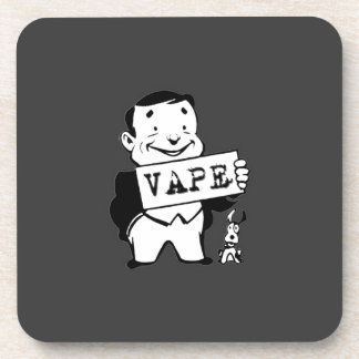 Chubby Retro Man Vape Grey Coasters