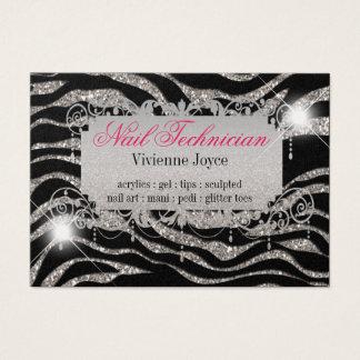 Chubby Sparkle & Shine Zebra : Business Cards