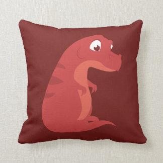 Chubby T-Rex Throw Pillow